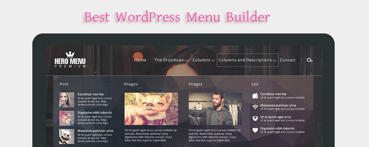 One of the best WordPress menu Plugins